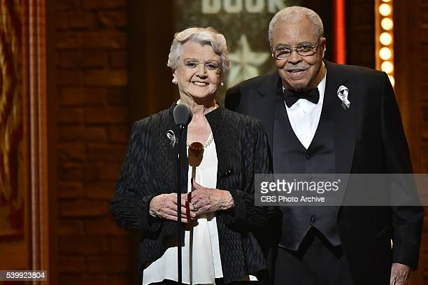 Angela Lansbury and James Earl Jones at THE 70TH ANNUAL TONY AWARDS live from the Beacon Theatre in New York City Sunday June 12 on the CBS...