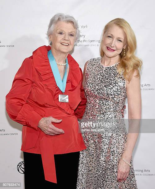Angela Lansbury and Patricia Clarkson attend The New York Public Library For The Performing Arts' 50th Anniversary Gala at The New York Public...