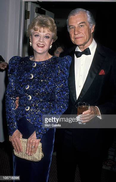 Angela Lansbury and Peter Shaw during International Broadcasting Awards March 22 1989 at Century Plaza in Los Angeles California United States
