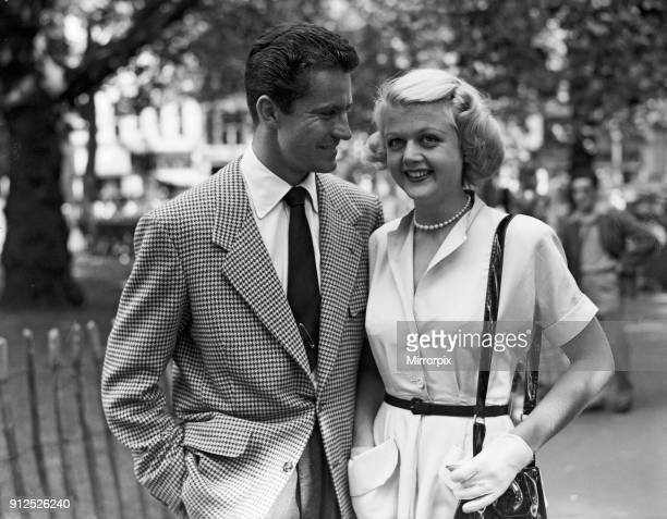 Angela Lansbury and Peter Shaw who are in London for their wedding 26th July 1949