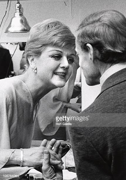 Angela Lansbury and Stephen Sondheim during 'A Party Musical' March 11 1973 at Shubert Theater in New York City New York United States