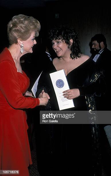 Angela Lansbury and Wendy Wasserstein during 43rd Annual Tony Awards Party at New York Hilton in New York City New York United States