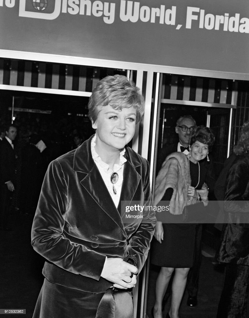 Angela Lansbury at the premiere of 'Bedknobs & Broomsticks' held at the Odeon, Leicester Square, 7th October 1971.