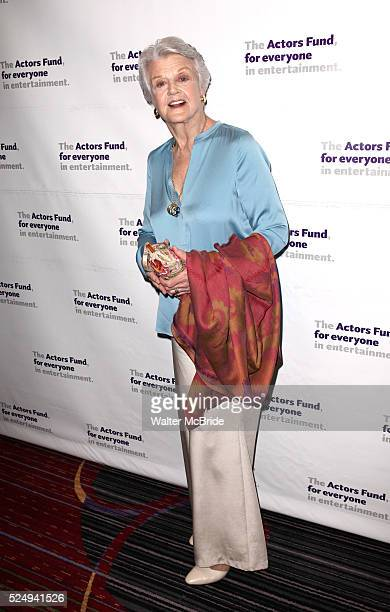 Angela Lansbury attending the Actors Fund Gala honoring Harry Belafonte Jerry Stiller Anne Meara David Steiner at the Mariott Marquis Hotel in New...