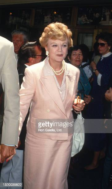 Angela Lansbury attends Geraldine Page Memorial Service at the Neil Simon Theater in New York City on June 17, 1987.