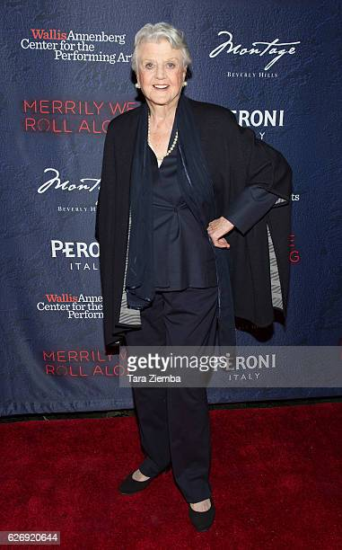 Angela Lansbury attends opening night of Stephen Sondheim's 'Merrily We Roll Along' at Wallis Annenberg Center for the Performing Arts on November 30...