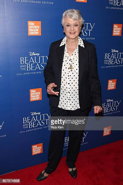 Angela Lansbury attends the 'Beauty The Beast' 25th Anniversary Screening at Alice Tully Hall Lincoln Center on September 18 2016 in New York City