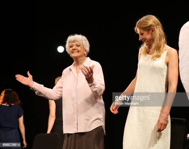 Angela Lansbury attends The Chalk Garden OneNightOnly Benefit Reading at The Kaye Playhouse at Hunter College on June 19 2017 in New York City
