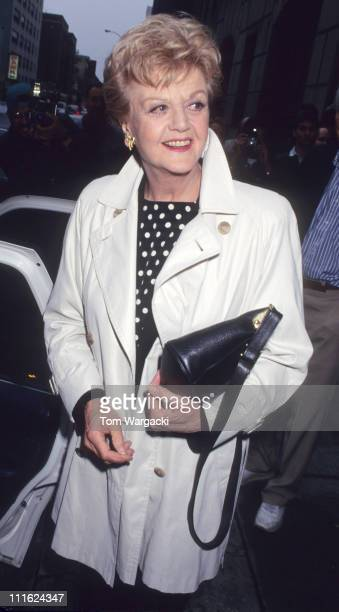 Angela Lansbury during Angela Lansbury at the 'Late Show with David Letterman' May 16 1995 in New York NY United States
