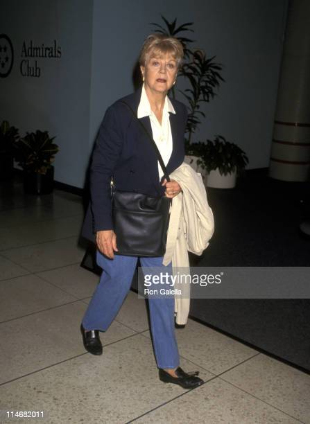 Angela Lansbury during Angela Lansbury Sighting at Los Angeles International Airport October 24 1996 at Los Angeles International Airport in Los...