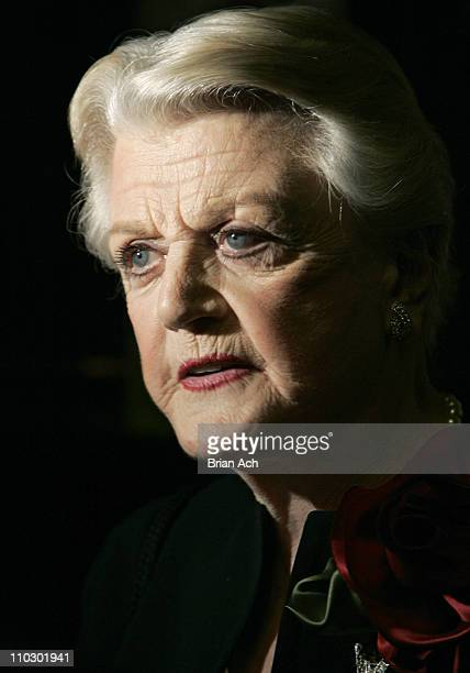 Angela Lansbury during Deuce Opening Night Curtain Call and After Party at Sardi's in New York City New York United States
