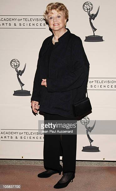 Angela Lansbury during The Academy of Television Arts Sciences Presents Women in Prime Arrivals at ATAS in North Hollywood California United States
