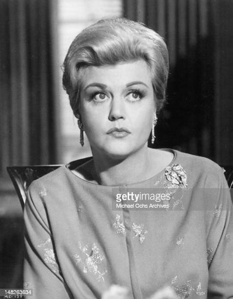 Angela Lansbury looking up in a scene from the film 'The Manchurian Candidate' 1962