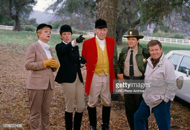 Angela Lansbury Lynn Redgrave Forrest Tucker Roger Miller and James Hampton star in an episode of the CBS television detective drama 'Murder She...