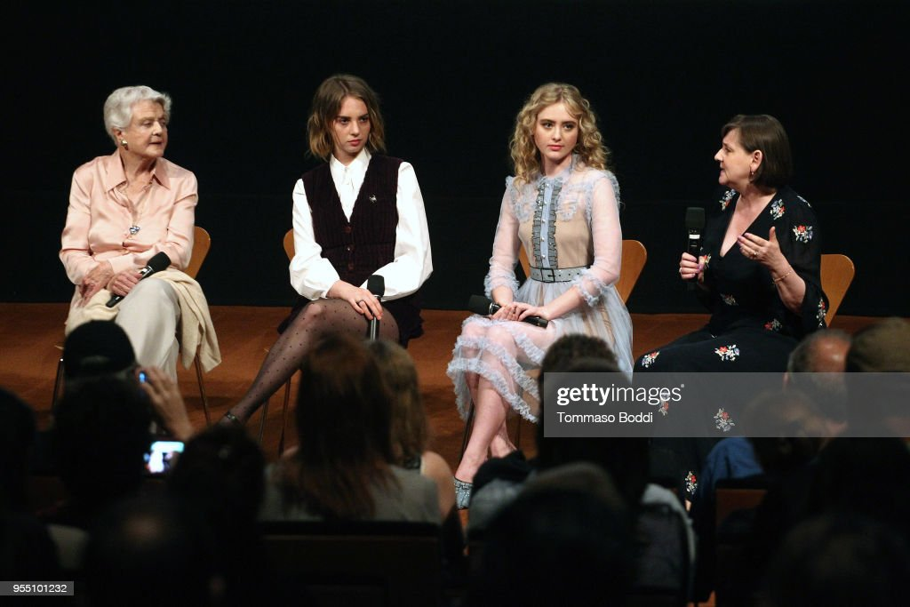 Angela Lansbury, Maya Hawke, Kathryn Newton and Heidi Thomas attend the 'Little Women' FYC Reception And Panel Discussion at Linwood Dunn Theater at the Pickford Center for Motion Study on May 5, 2018 in Hollywood, California.