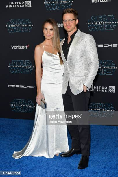 "Angela Lanter and Matt Lanter attend the Premiere of Disney's ""Star Wars: The Rise Of Skywalker"" on December 16, 2019 in Hollywood, California."