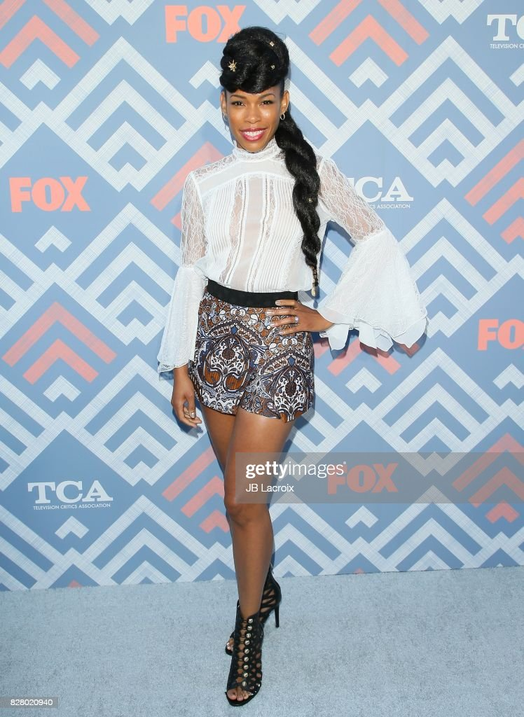 Angela Lewis attends the 2017 Summer TCA Tour 'Fox' on August 08, 2017 in Los Angeles, California.