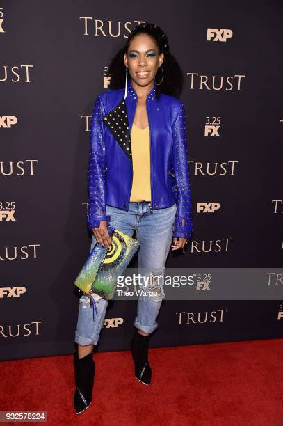 Angela Lewis attends the 2018 FX Annual AllStar Party at SVA Theater on March 15 2018 in New York City