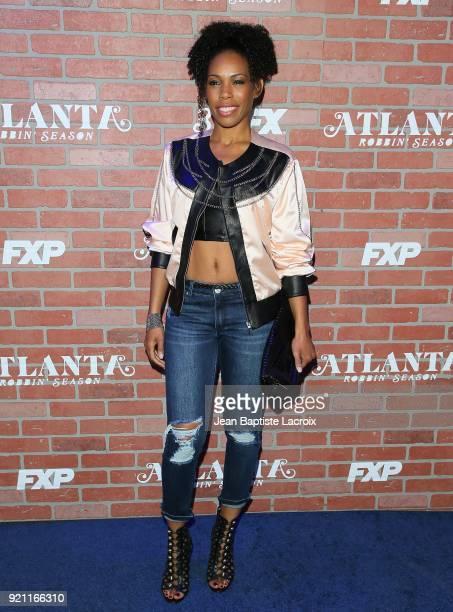 Angela Lewis attends the FX's 'Atlanta Robbin' Season' Premiere on February 19 2018 in Los Angeles California