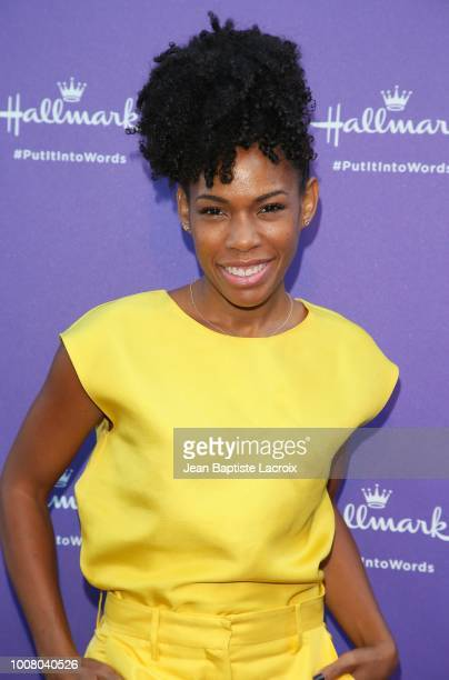 Angela Lewis attends the Hallmark's 'Put In Into Words' Campaign Launch Party on July 30 2018 in Los Angeles California