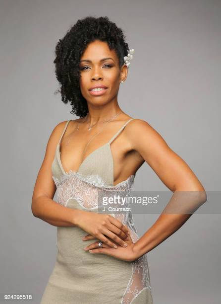 Angela Lewis poses for a portrait during the 2018 American Black Film Festival Honors Awards at The Beverly Hilton Hotel on February 25 2018 in...