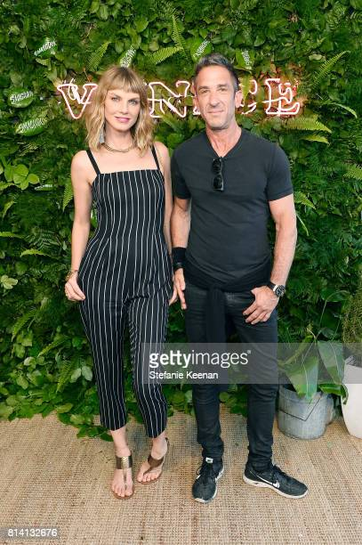Angela Lindvall and Davis Factor attend Smashbox Venice Store Opening on July 13 2017 in Venice California