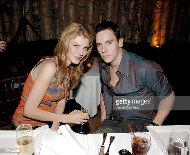 Angela Lindvall and Jonathan Rhys Meyers during Armani Exchange Celebrates Jonathan Rhys Meyers for Nylon Guys Summer Issue Cover at Butter at Butter...