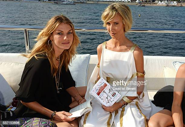 Angela Lindvall and Lady Victoria Hervey attend a VIP cocktail party hosted by Lady Victoria Hervey to celebrate her new book 'Lady In Waiting'...