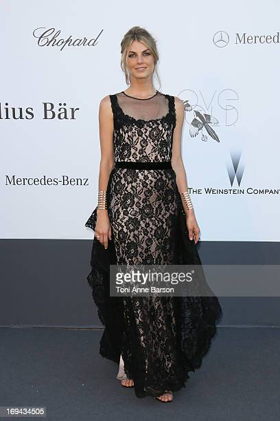 Angela Lindvall arrives at amfAR's 20th Annual Cinema Against AIDS at Hotel du CapEdenRoc on May 23 2013 in Cap d'Antibes France