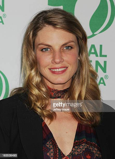 Angela Lindvall arrives at Global Green USA's 10th Annual PreOscar party at Avalon on February 20 2013 in Hollywood California