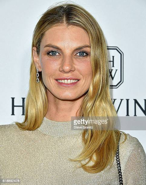 Angela Lindvall arrives at the amfAR's Inspiration Gala Los Angeles at Milk Studios on October 27 2016 in Hollywood California