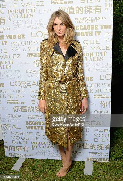 Angela Lindvall attends amfAR's 20th Annual Cinema Against AIDS during The 66th Annual Cannes Film Festival at Hotel du CapEdenRoc on May 23 2013 in...