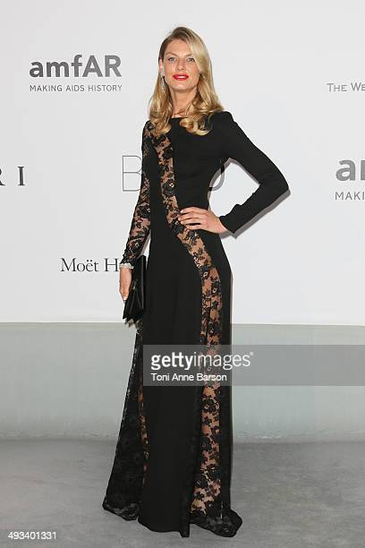 Angela Lindvall attends amfAR's 21st Cinema Against AIDS Gala Presented By WORLDVIEW BOLD FILMS And BVLGARI at the 67th Annual Cannes Film Festival...