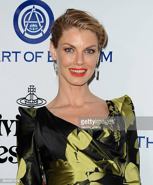 Angela Lindvall attends Art of Elysium's 9th annual Heaven Gala at 3LABS on January 9 2016 in Culver City California