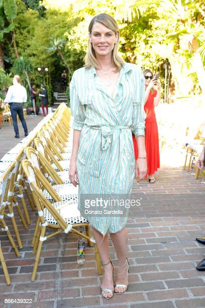 Angela Lindvall attends CFDA/Vogue Fashion Fund Show and Tea at Chateau Marmont at Chateau Marmont on October 25 2017 in Los Angeles California