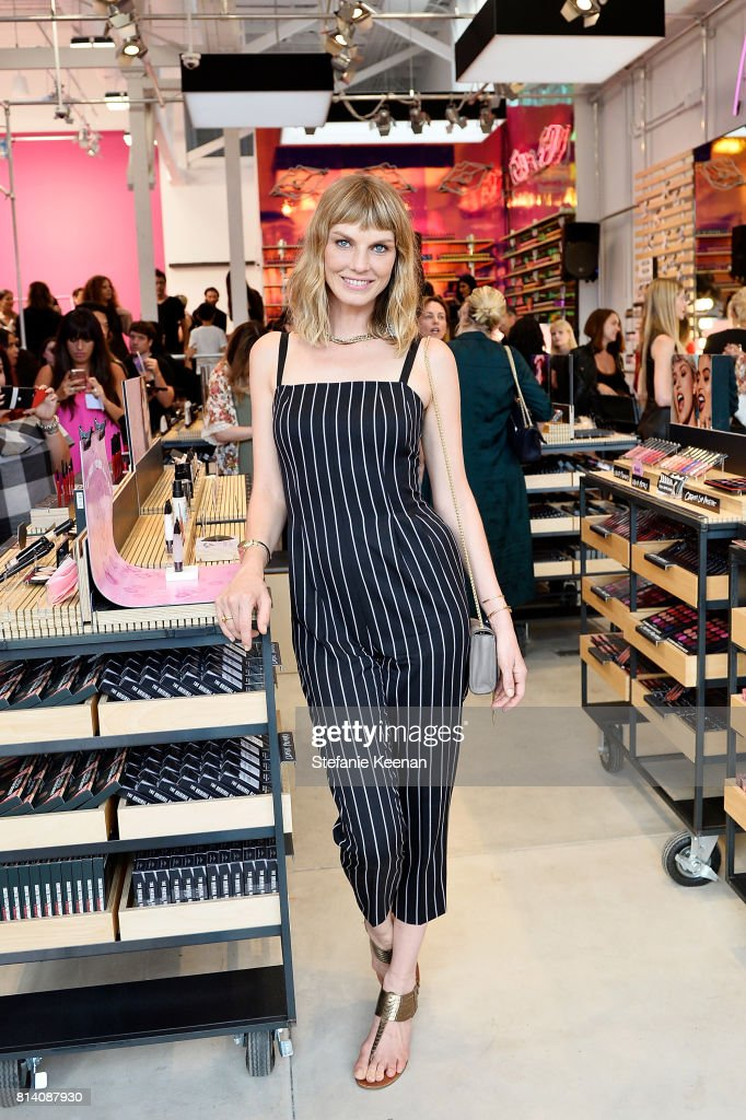 Angela Lindvall attends Smashbox Venice Store Opening on July 13, 2017 in Venice, California.