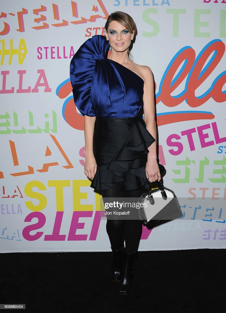 Angela Lindvall attends Stella McCartney's Autumn 2018 Collection Launch on January 16, 2018 in Los Angeles, California.