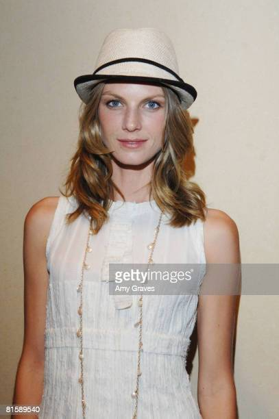 Angela Lindvall attends the 12th annual Green Cross Millennium awards at Fairmont Miramar Hotel on June 14 2008 in Santa Monica California