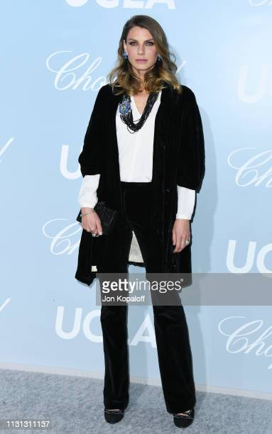 Angela Lindvall attends the 2019 Hollywood For Science Gala at Private Residence on February 21 2019 in Los Angeles California