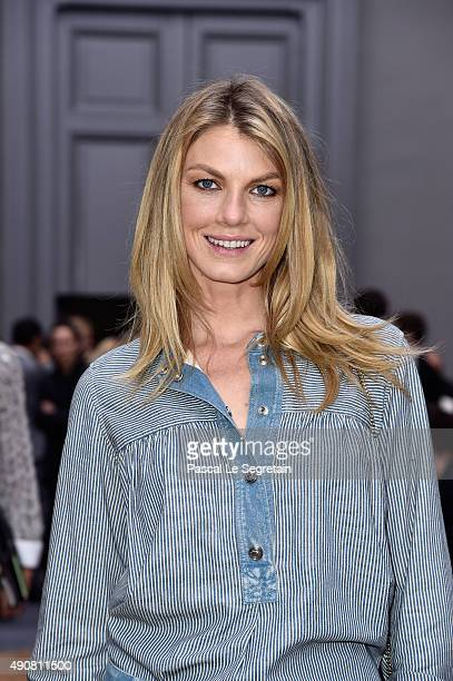 Angela Lindvall attends the Chloe show as part of the Paris Fashion Week Womenswear Spring/Summer 2016 on October 1 2015 in Paris France
