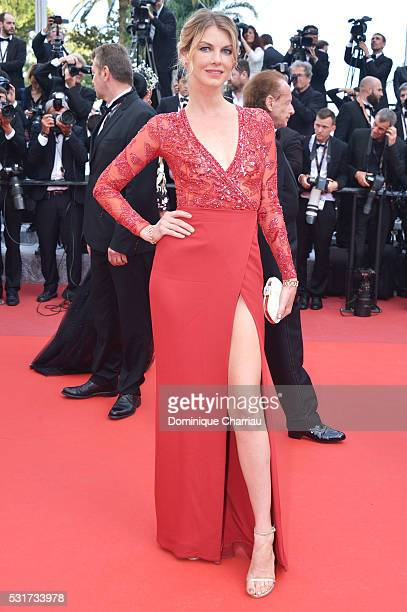 Angela Lindvall attends the 'Loving' premiere during the 69th annual Cannes Film Festival at the Palais des Festivals on May 16 2016 in Cannes France
