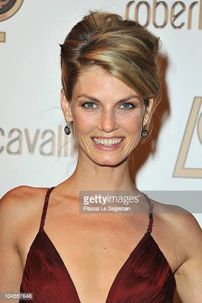 Angela Lindvall attends the Roberto Cavalli party at Les BeauxArts de Paris as part of the Paris Fashion Week Ready To Wear S/S 2011 on September 29...