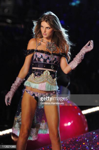 Angela Lindvall during 10th Victoria's Secret Fashion Show Runway at The New York State Armory in New York City New York United States