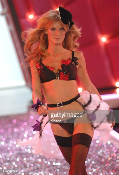 Angela Lindvall during 11th Victoria's Secret Fashion Show Runway at Kodak Theatre in Hollywood CA United States