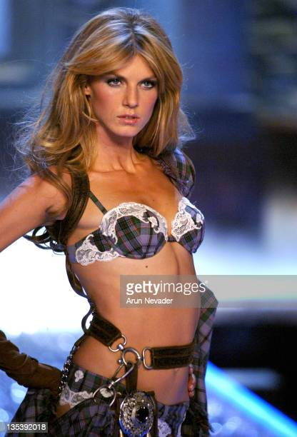 Angela Lindvall during 11th Victoria's Secret Fashion Show Runway at Kodak Theatre in Hollywood California United States