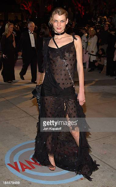 Angela Lindvall during 2004 Vanity Fair Oscar Party at Mortons in Beverly Hills California United States