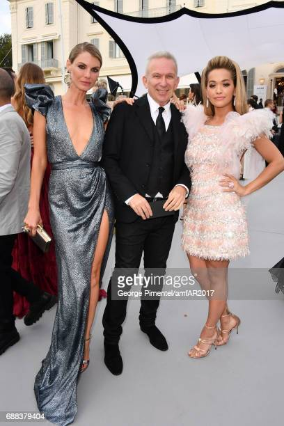 Angela Lindvall JeanPaul Gaultier and Rita Ora arrive at the amfAR Gala Cannes 2017 at Hotel du CapEdenRoc on May 25 2017 in Cap d'Antibes France