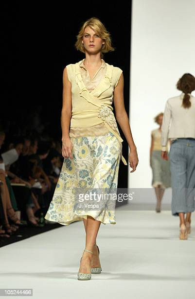 Angela Lindvall wearing Marc Jacobs Spring 2004 during MercedesBenz Fashion Week Spring 2004 Marc Jacobs Runway at New York State Armory in New York...