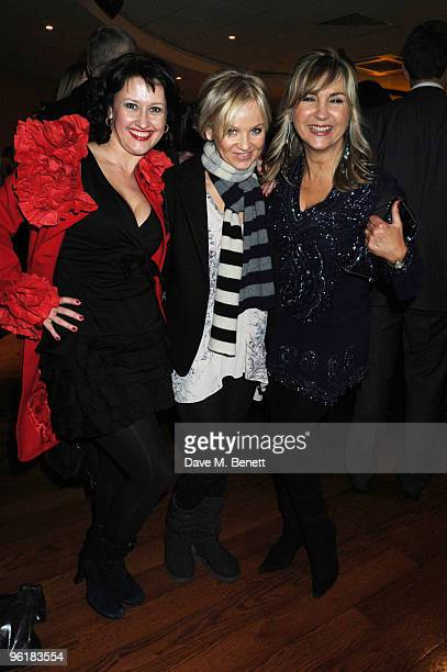 Angela Lonsdale Lisa Maxwell and Lesley Garrett attend a charity screening of budget Welsh indie film 'A Bit Of Tom Jones' in aid of the 'Get Tested'...