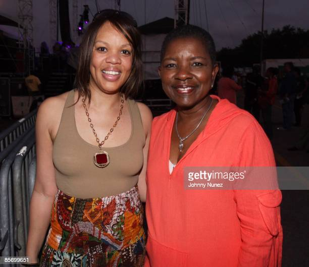 Angela Mack and Mayor Shirley Gibson attend the 4th Annual Jazz in the Gardens at Dolphin Stadium on March 28, 2009 in Miami, Florida.